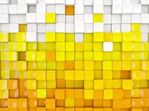 White and yellow background with hexagon pattern Royalty Free Stock Image