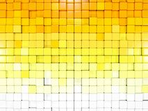 White and yellow background with hexagon pattern Royalty Free Stock Photos