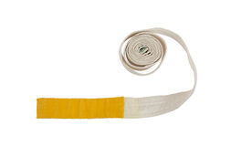White and yellow belt isolated Stock Photography