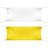 White and Yellow Blank Empty Horizontal Banners Royalty Free Stock Photos