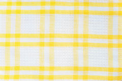 White and yellow checked texture Royalty Free Stock Photo