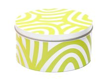 White-yellow container Stock Images