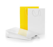 White and yellow gift bags Stock Photography