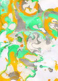 White, yellow, green and gray abstract hand painted background Royalty Free Stock Photography
