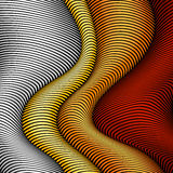 White, yellow, orange and red striped waves Stock Photography