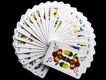 White and Yellow Playing Cards Royalty Free Stock Photo