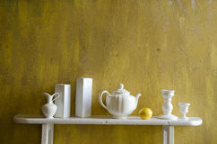 White and yellow still-life Royalty Free Stock Photos