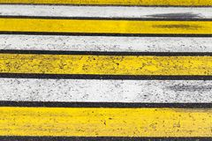 White and yellow stripes Royalty Free Stock Photo