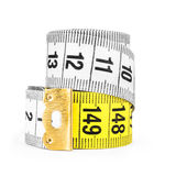 White and yellow tape measuring Royalty Free Stock Images