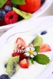 White yogurt Stock Photo