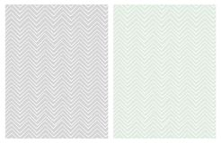 Set of Seamless Cute Chevron Patterns. Delicate Pastel Colors. vector illustration