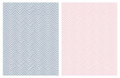 Set of Seamless Cute Chevron Patterns. royalty free illustration