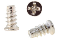 White zinc screw Royalty Free Stock Photography