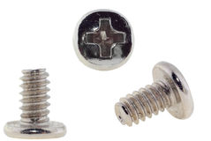White zinc screw Stock Photography