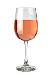 White Zinfandel isolated. Glass of White Zinfandel isolated on a white background Royalty Free Stock Photo
