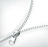 White zipper. Illustration on a white background Royalty Free Stock Images
