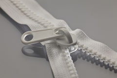 White zipper Royalty Free Stock Images