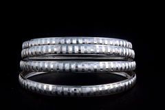 WhiteAngle silver Bangles Royalty Free Stock Photos