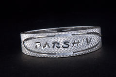 WhiteAngle silver Bangles Royalty Free Stock Photography