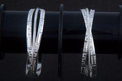 WhiteAngle zilveren Armbanden Stock Fotografie