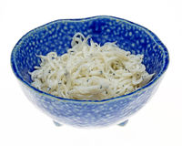 Whitebait in a bowl Stock Image