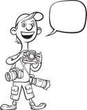 Whiteboard图画-滑稽的动画片摄影师 向量例证