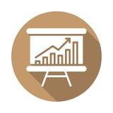 Whiteboard με την ανάπτυξη του επίπεδου εικονιδίου διαγραμμάτων Στοκ Εικόνες