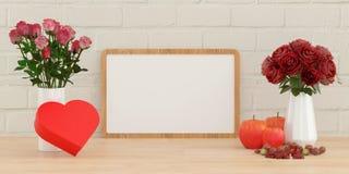 Whiteboard με το θέμα ημέρας βαλεντίνων ` s Στοκ φωτογραφία με δικαίωμα ελεύθερης χρήσης