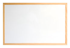 Whiteboard. With wooden frame isolated over white Royalty Free Stock Images
