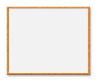 Whiteboard. Illustration of Whiteboard with wooden frame on white background Royalty Free Stock Images