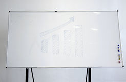 Whiteboard. Blank whiteboard in meeting room Stock Images
