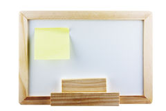 Whiteboard avec la note de post-it Photographie stock