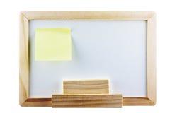 Whiteboard avec la note de post-it Photographie stock