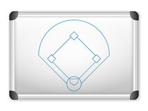 Whiteboard baseball Arkivfoton