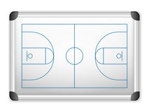 Whiteboard basketball Stock Images