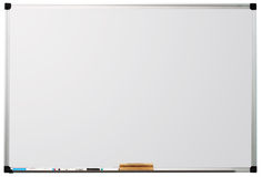 whiteboard blanc d'isolement par fond Images stock