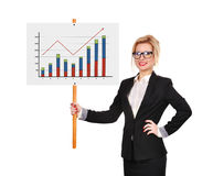 Whiteboard with chart Royalty Free Stock Photography