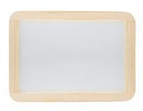 Whiteboard com frame de madeira Fotos de Stock
