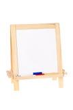 Whiteboard com marcadores foto de stock