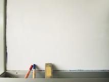 Whiteboard com pena e eliminador Imagem de Stock Royalty Free