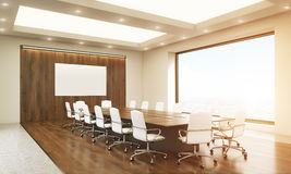 Whiteboard in conference room toning Royalty Free Stock Photography