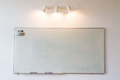 Whiteboard. Conference room wall with whiteboard. Copy space available Stock Image