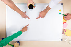 Whiteboard with copy space Stock Image