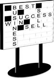 Whiteboard with crossword Royalty Free Stock Photos