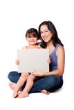Whiteboard da puericultura fotos de stock royalty free
