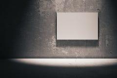 Whiteboard in dark room Royalty Free Stock Image