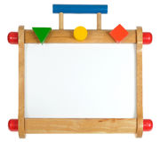 Whiteboard de madeira colorido Fotos de Stock Royalty Free