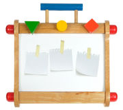 Whiteboard de madeira colorido Imagem de Stock Royalty Free