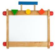 Whiteboard di legno variopinto Fotografie Stock Libere da Diritti