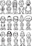 Whiteboard drawing - cartoon avatar people Royalty Free Stock Photo